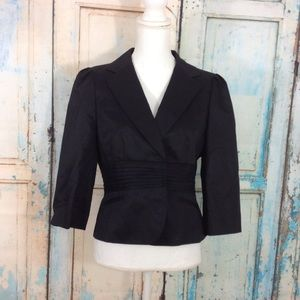 Ann Taylor 3/4 sleeve blazer black